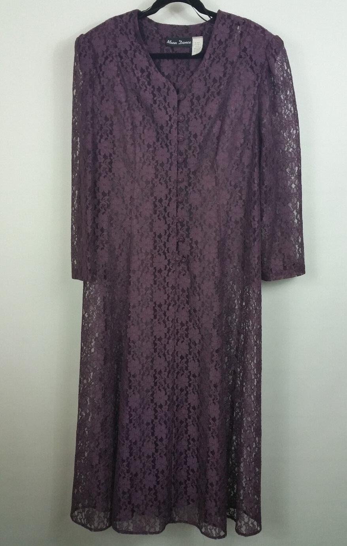 damen Größe 22 Maroon Moon Dance lace overlay long sleeve vintage Corset back