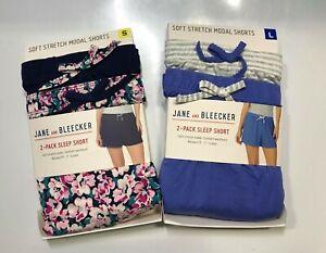 NEW-Jane-And-Bleecker-Women-039-s-2-Pack-Sleep-Short-VARIETY