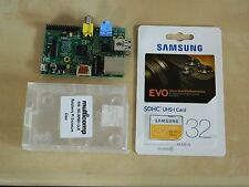 Raspberry Pi Model B 512MB + Case + 32GB SD
