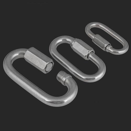 Kettenverbinder Kettenschnellverschluss Edelstahl A2 Schnellverbinder 3.5~12mm