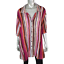 Maggie-Barnes-Womens-Top-Plus-Sz-4X-30W-32W-Crinkle-Striped-Collared-Button-Up thumbnail 1