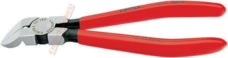 72 11 160 Knipex 6.25 inch DIAGONAL FLUSH CUTTERS 45 ANGLE
