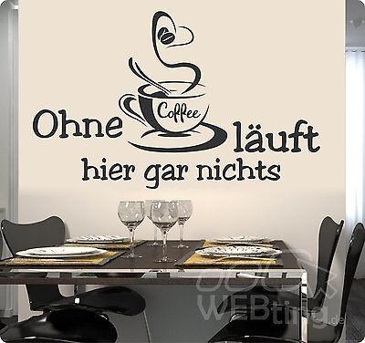 Coffee Kaffee Wandaufkleber Aufkleber Küche Sticker Wandtattoo Tattoo No.19