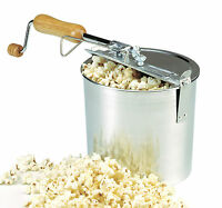Norpro 581 Hand Crank Stove Top Popcorn Popper Maker Machine 4 Quart on sale