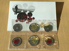 2015 Remembrance Coin Set Flanders Fields and Poppy - Toonie and Poppy Quarter