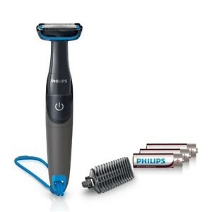 Philips BG1025/15 Body Groomer with Shower Cord for men -includes 3 AA batteries