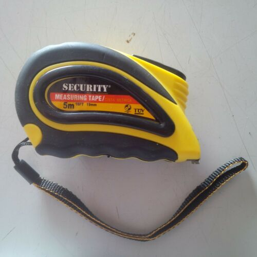 SECURITY MEASURING TAPE RUBBER EXTERIOR 5MTS.//16FT.//SAE AND METRIC !!!