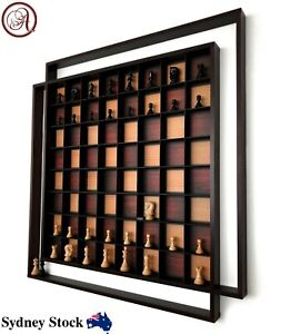 AMBRIZZOLA-Quadretti-Wooden-Wall-Chess-Set-with-Quality-Hand-Carved-Chess-Pieces