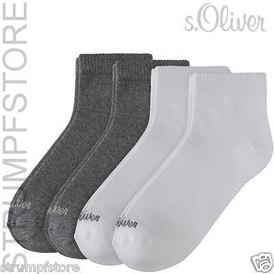 S. Oliver Sneaker Quarter Calze 4 Paia Unisex, Bianco-grigio _ 01, Tutte Le Taglie, S21007-mostra Il Titolo Originale Numerosi In Varietà