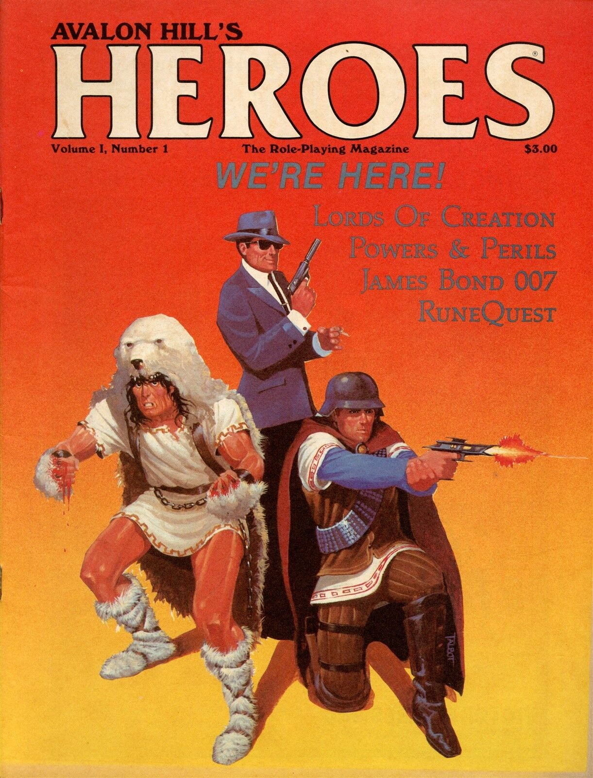 Héroes revista Avalon Hill Vol 1  1 Fantasy RPG Vf