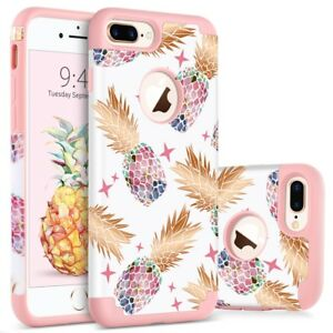 For-iPhone-8-7-6S-6-Plus-Cute-Pineapple-Design-Case-Cover-Shockproof-Bumper-Girl