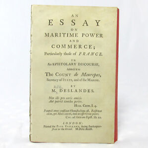 DESLANDES-Essay-on-MARITIME-POWER-and-COMMERCE-Particularly-FRANCE-First