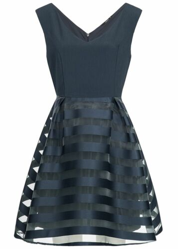 50/% OFF B18042338 Damen Only Mini Kleid 2-lagig Streifen night sky blau