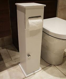 Rollo de papel higi nico blanco de madera unidad de for Gabinete de almacenamiento de bano de madera