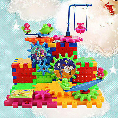 81pcs/Set Baby Educational Toys Electric Gears Building Blocks Changeable Toy