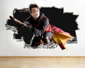 J harry potter new smashed wall decal poster d art stickers