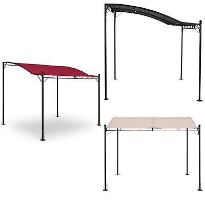 2,6 x 3 m, Grigio Scuro, Poliestere 180 g//m2 Uniprodo Gazebo Pergola Pergola da Giardino Uni/_Gazebo/_ 3X2.5T