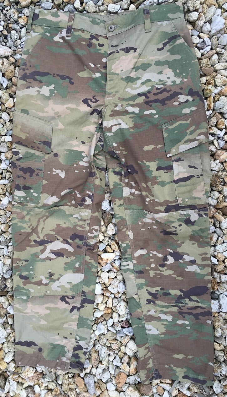 US Army OCP ACU Scorpion W2 Combat Uniform Tarnhose pants Hose LS Large Short