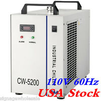 110v 60hz Cw-5200dh Water Chiller For One 8kw Spindle/ Two 100w Co2 Laser Tubes