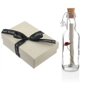 Personalised 30th Birthday Gift Message In A Bottle Keepsake With