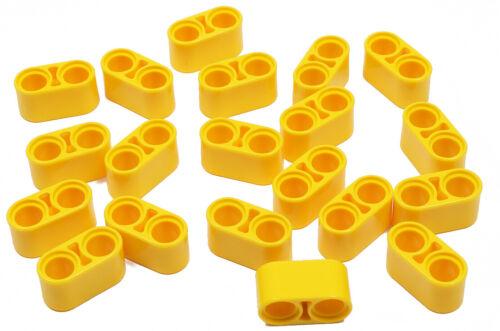 20 x Liftarm 1x2 dick gelb 43857 NEUWARE LEGO Technik 2 x Pinloch