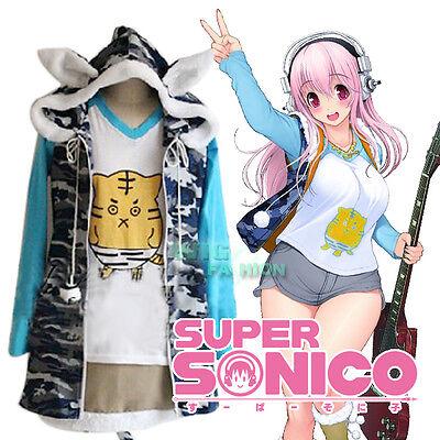 Super Sonico Cute Tigrina Anime Cosplay Costume