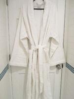 Frette Xxxxl Shawl Collar Iconic White Terry Bathrobe & Slippers Free Shipping