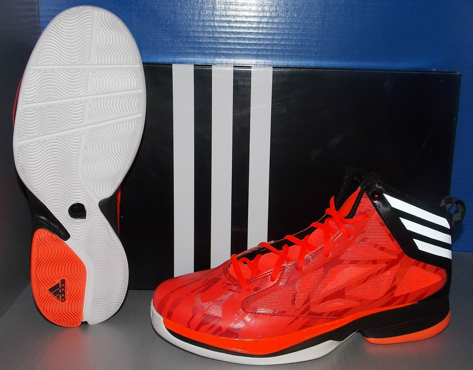 MENS ADIDAS CRAZY FAST in colors INFRA RED WHITE / RUNNING WHITE RED / BLACK SIZE 11.5 5478cb