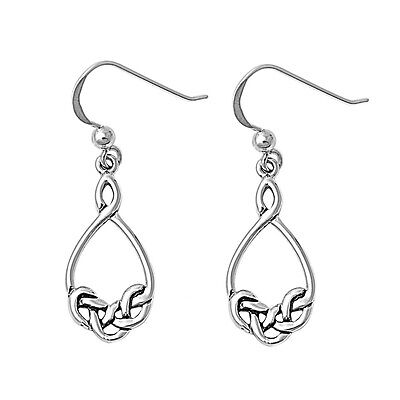 New 925 Sterling Silver Celtic Trinity Triquetra Knot Dangling Earring