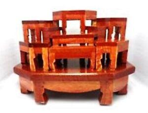 Mini Altar wood Tables worship Thai Buddha Buddhist Amulet Hallow ...