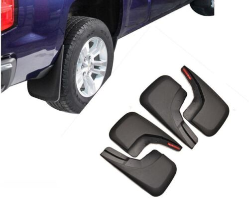 For Chevrolet Silverado 1500 2014-2017 Mud Flaps Splash Guards Molded 4-PCS Set