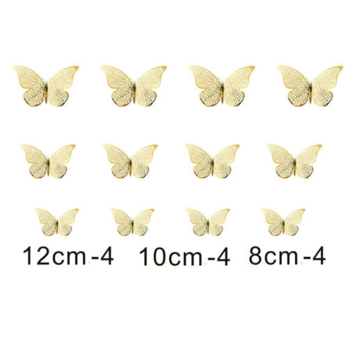 12x 3D Butterfly Wall Stickers Home Decor Room Decoration Sticker Bedroom Gifts