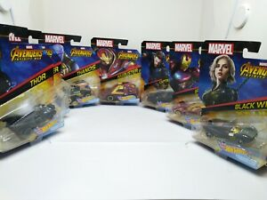 Hot-Wheels-personnage-voitures-echelle-1-64-Marvel-Avengers-Infinity-war