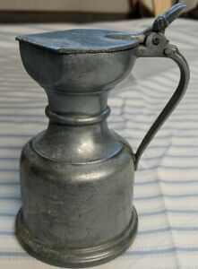 Vintage-Peltrato-95-Italian-Pewter-Pitcher-4-034-With-Lid