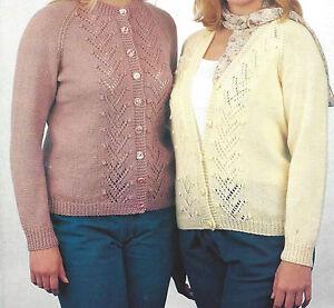 Ladies Raglan Cardigan Knitting Pattern : LADIES RAGLAN CARDIGAN KNITTING PATTERN LARGE SIZES 32/46 (760)