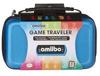Nintendo 3ds / 3ds Amiibo Tasche Blau Für Konsole Figurenspiele Na5