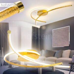 Deckenlampe LED Design Wohn Schlaf Zimmer Leuchten Flur Diele Lampen Goldfarben