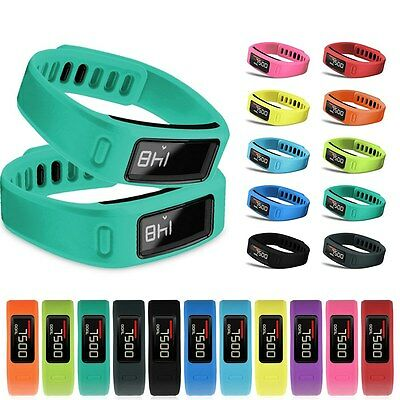 S/L Replacement Silicone Wrist Bracelet Band Strap w/ Clasp for Garmin Vivofit