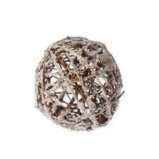 "NEW RAZ 5"" Iced Twig Ball Christmas Tree Ornament 3602381"