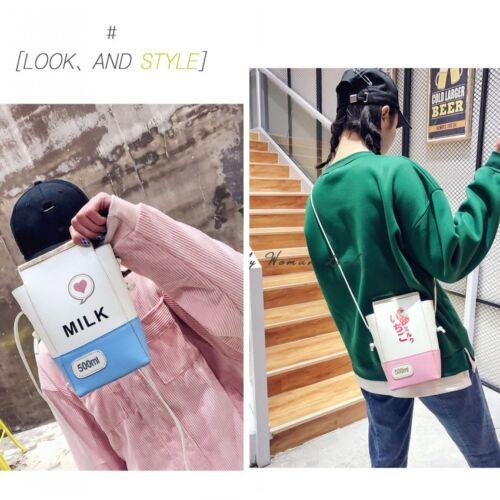 Kawaii lait Box épaule Sac à main en cuir PU Sac Messenger Sac à main ANIME Gift Sweet