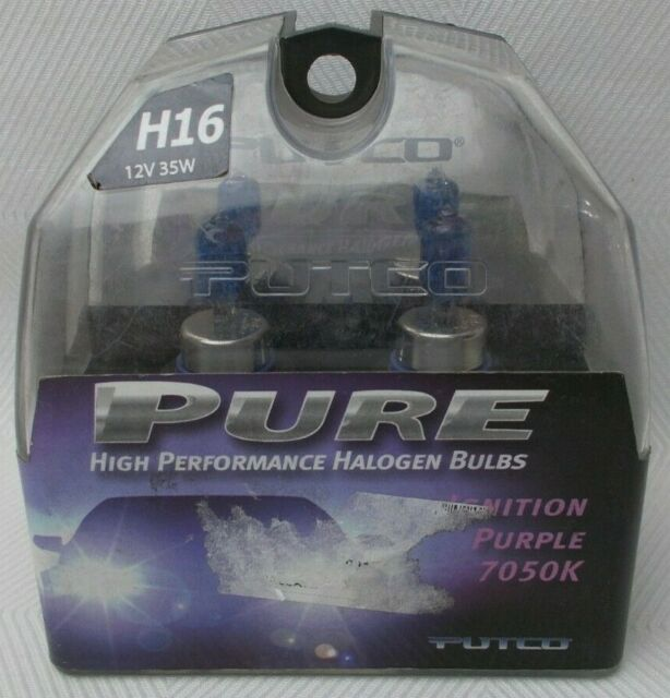 Putco 230001PU H16 Halogen Ignition Purple Light Bulb Pair