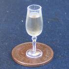 1:12 Glass Of Champagne Wine Dolls House Miniature Pub - Bar Drink Accessory L16