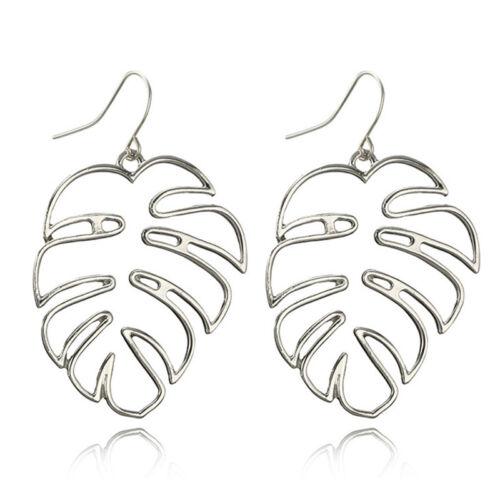 Boho Leaf Drop Dangle Earrings Statement Ear Stud Earrings Women Jewelry