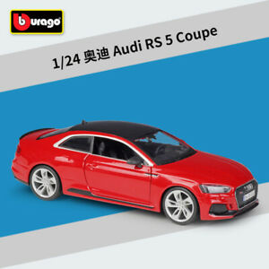Bburago 1:24 2019 Audi RS 5 Coupe Diecast Model Sports Racing Car Red NEW IN BOX