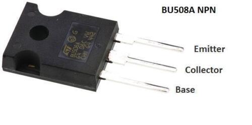 3-Pin TO-247 Multiple QTY 8A 700V BU508AW NPN High Voltage Bipolar Transistor