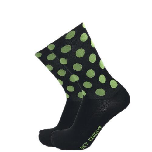Men Women Fashion Polka Dot Nylon Socks Cycling Mountain Road Bike Sport Socks