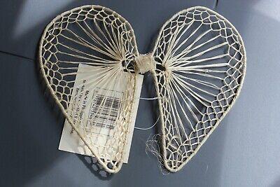"2 Pair 8/"" Abaca Raffia Ivory Color Angel Wings Create A Craft DIY Doll Making"