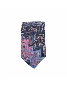 Missoni-Vintage-Blue-Purple-Silk-Tie