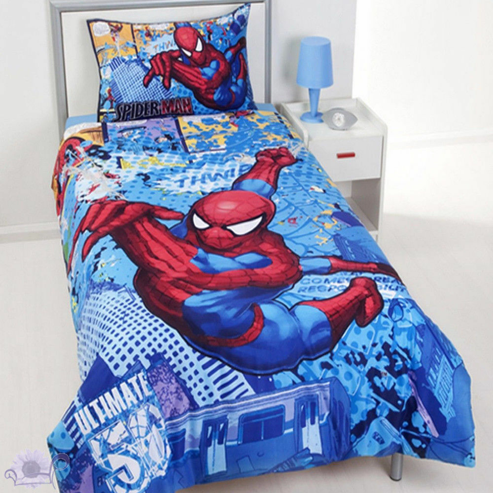 Spiderman Comic Strip Duvet   Doona Quilt Cover Set   Marvel   US Twin   Single