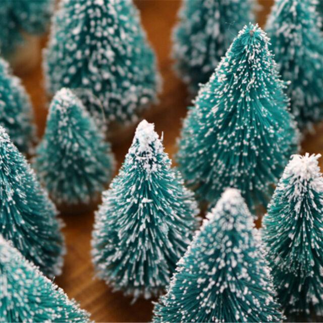 10PCS DIY Christmas Mini Trees Desktop Home Decor Christmas Decoration For Ki rf